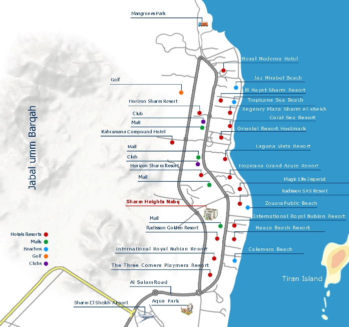 House Site Map Example: Sea View Apartments In Sharm El-Sheikh